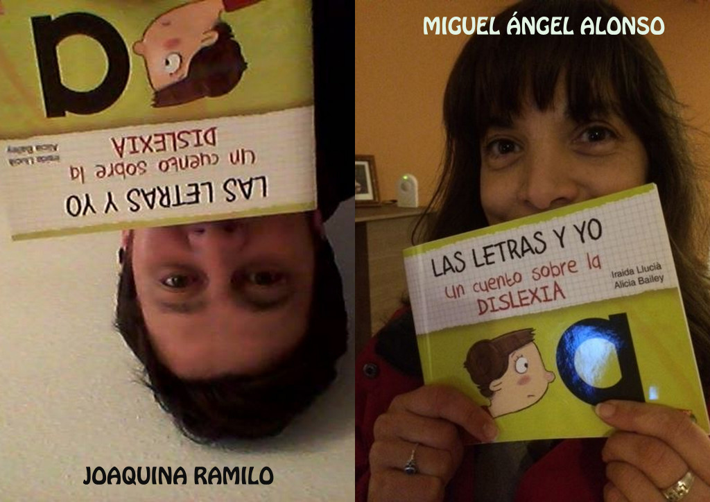Los dos alegres traductores del cuento sobre la dislexia al gallego.
